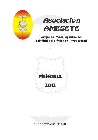 AMESETE. WEB. Memoria 2012
