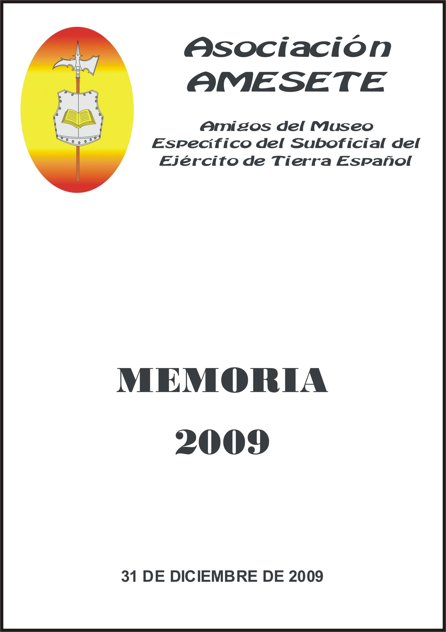 AMESETE. WEB. Memoria 2009
