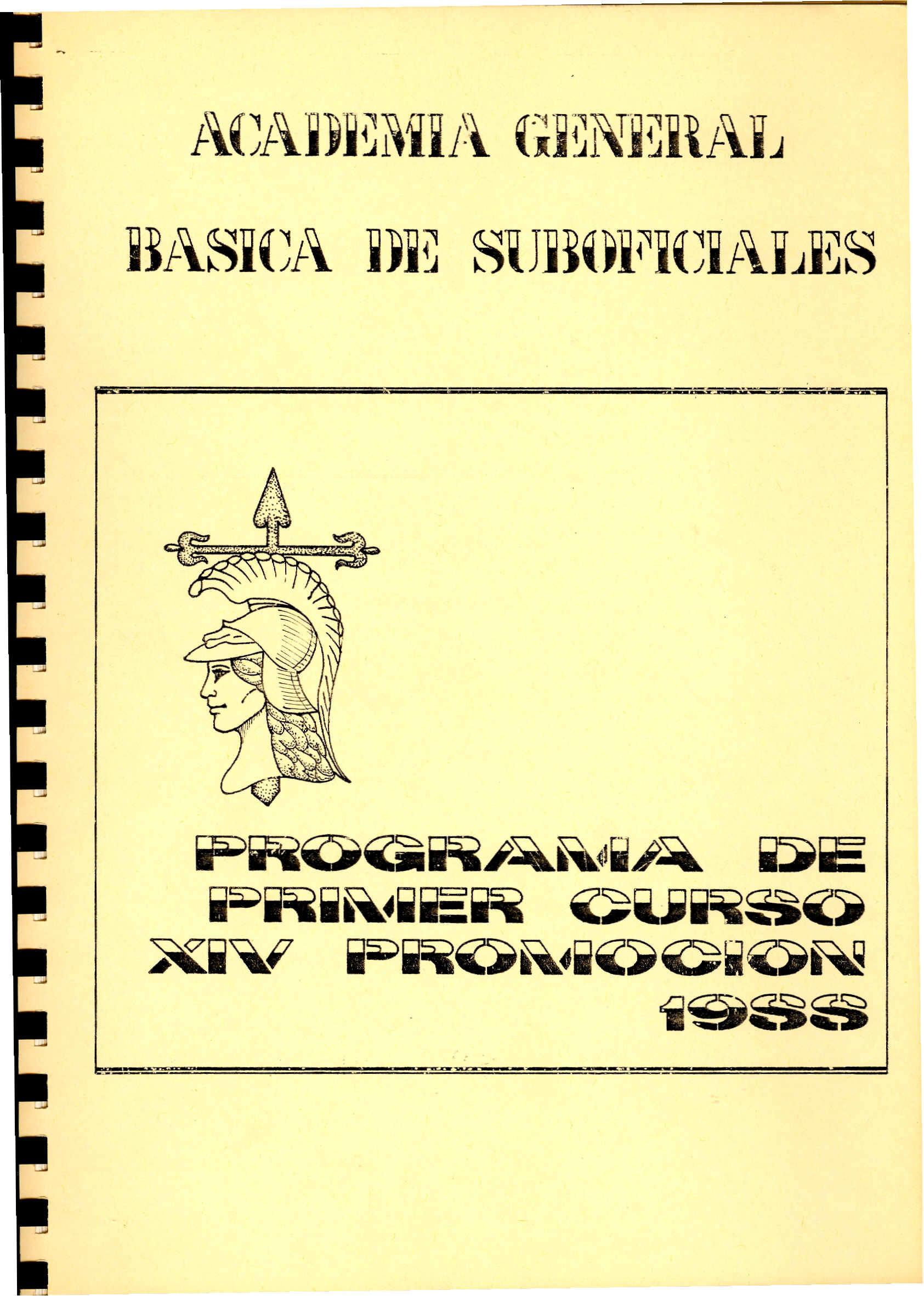 AMESETE. AGBS. Prog. Est. XIV P. 1º C. 1988-89