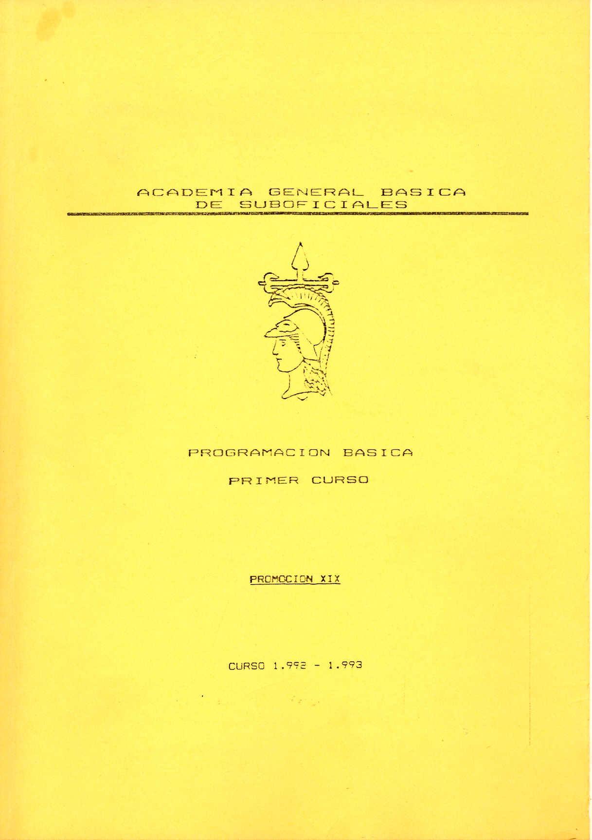 AMESETE. AGBS. Prog. Est. XIX P. 1º C. 1992-93
