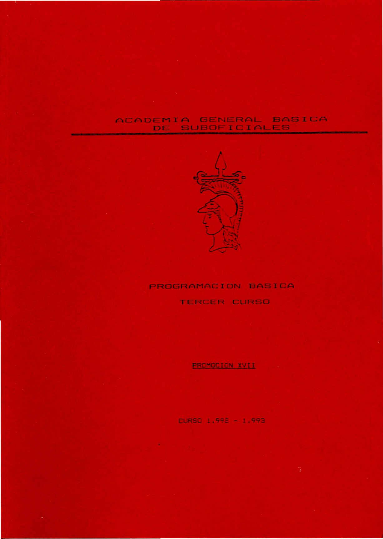 AMESETE. AGBS. Prog. Est. XVII P. 3º C. 1993