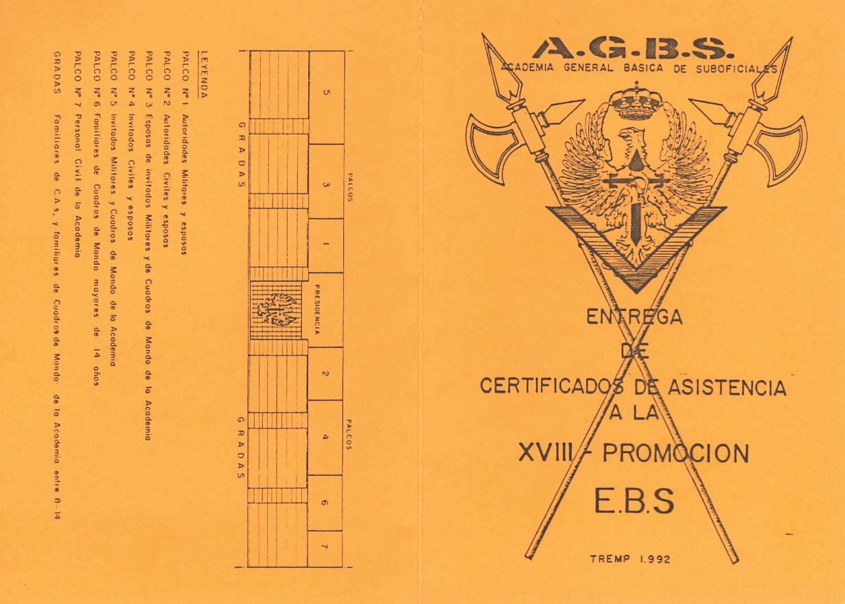 Invitaciones. Certificados Asistencia 18ª Prom. 1992 01
