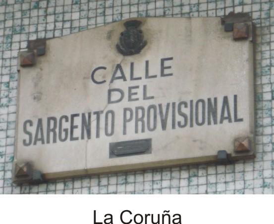 Placa calle La Coruña