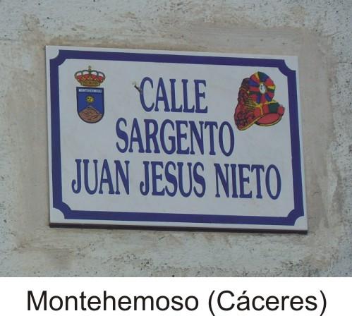 Placa calle Montehermoso