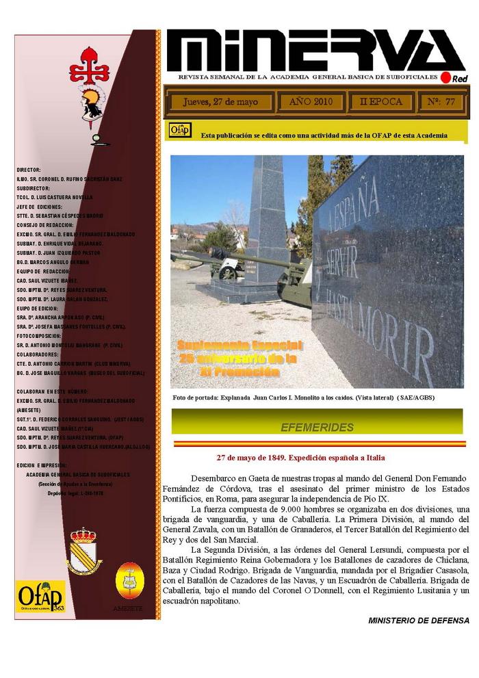Revista MINERVA.RED núm. 77