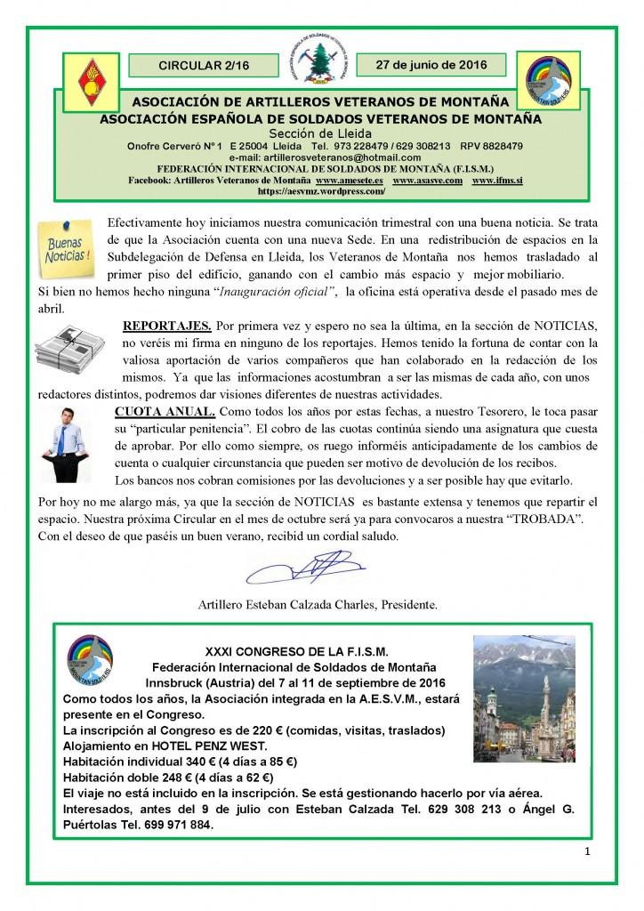 Revista AAVM. CIRCULAR 2-16r