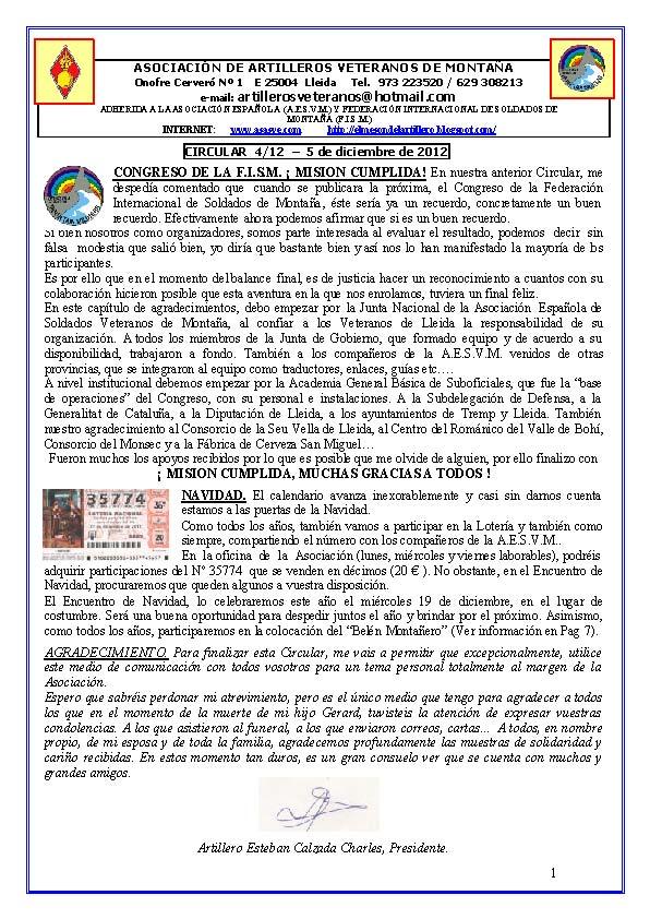 AAVM. CIRCULAR 4-12