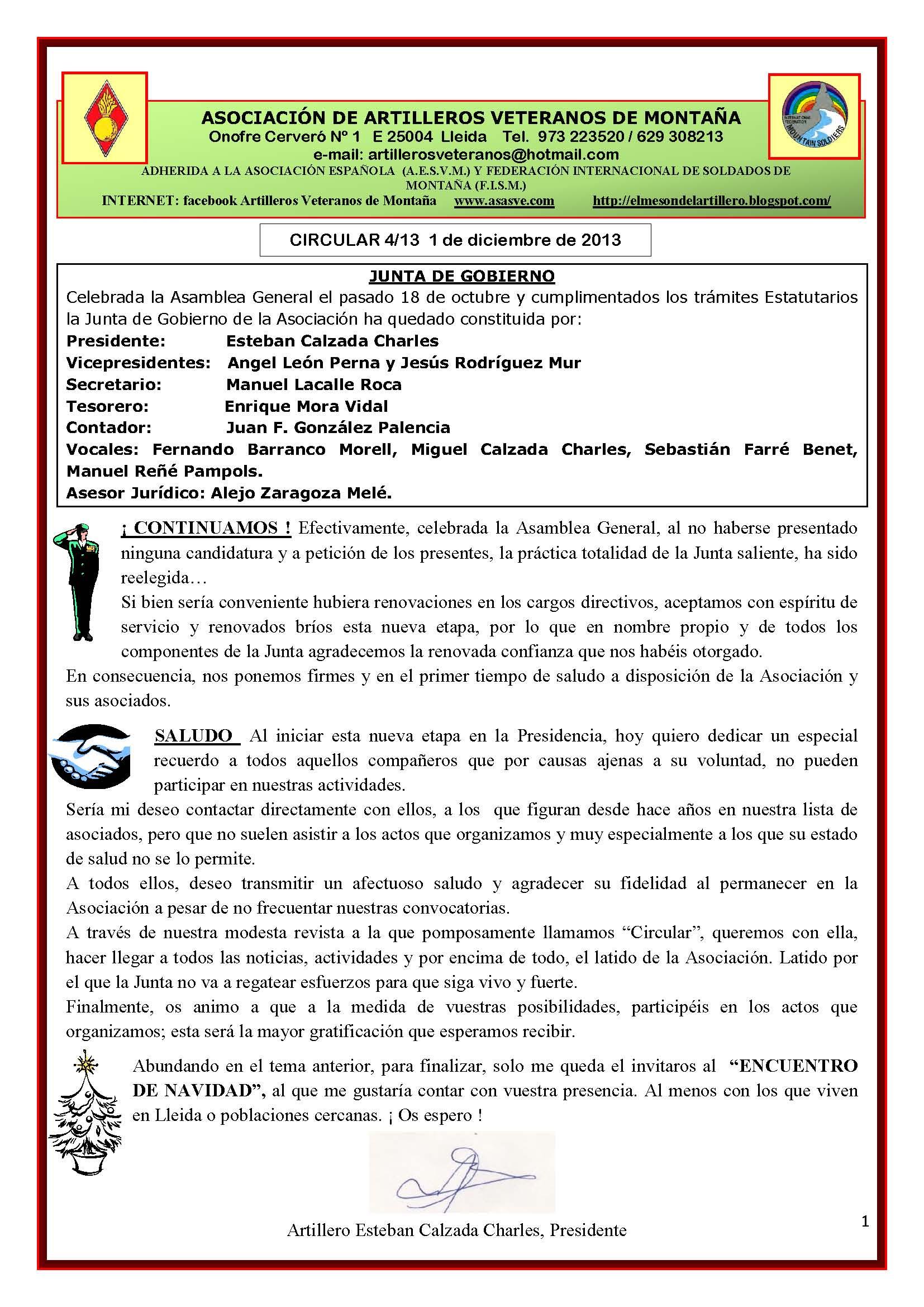Revista AAVM. CIRCULAR 4-13r