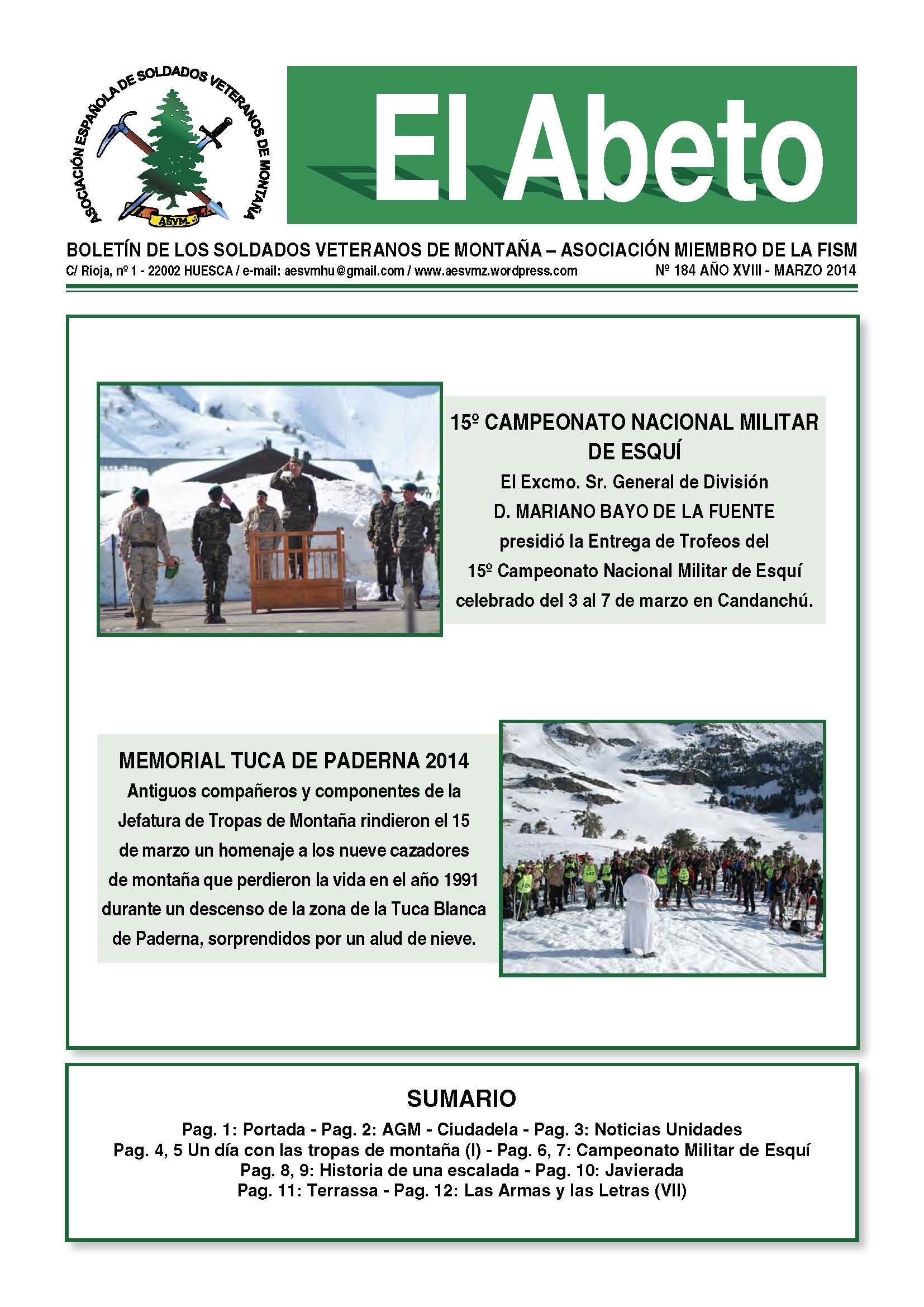 Revista EL ABETO núm. 184