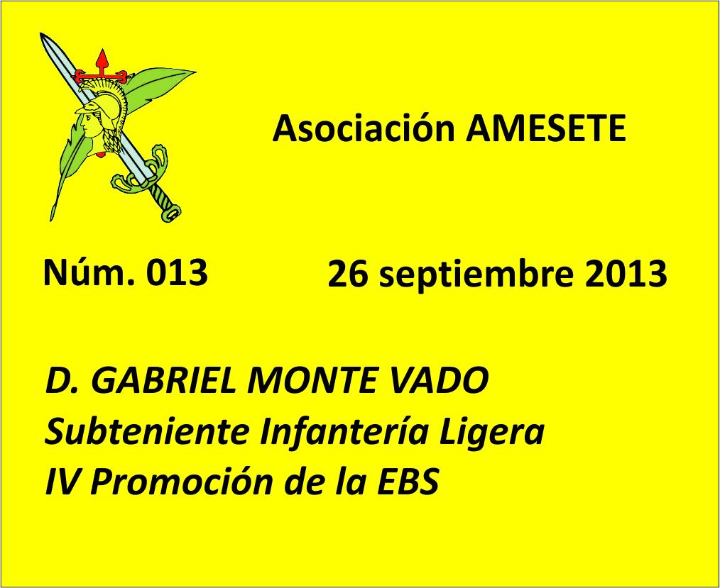 SUBOF. ESC. 013. Gabriel Monte Vado