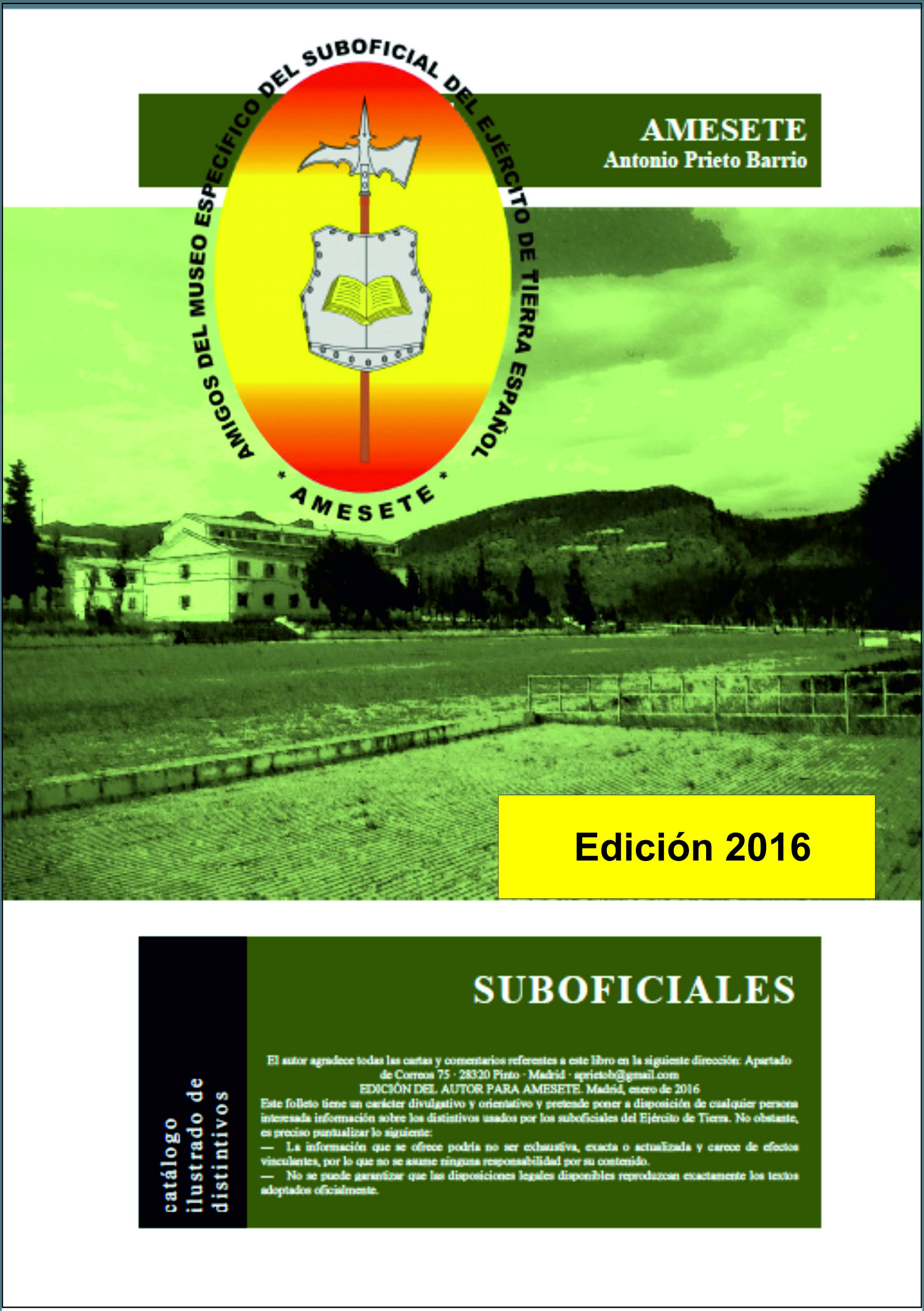 SUBOFICIALES. Catálogo ilustrado de distintivos. Edición 2016