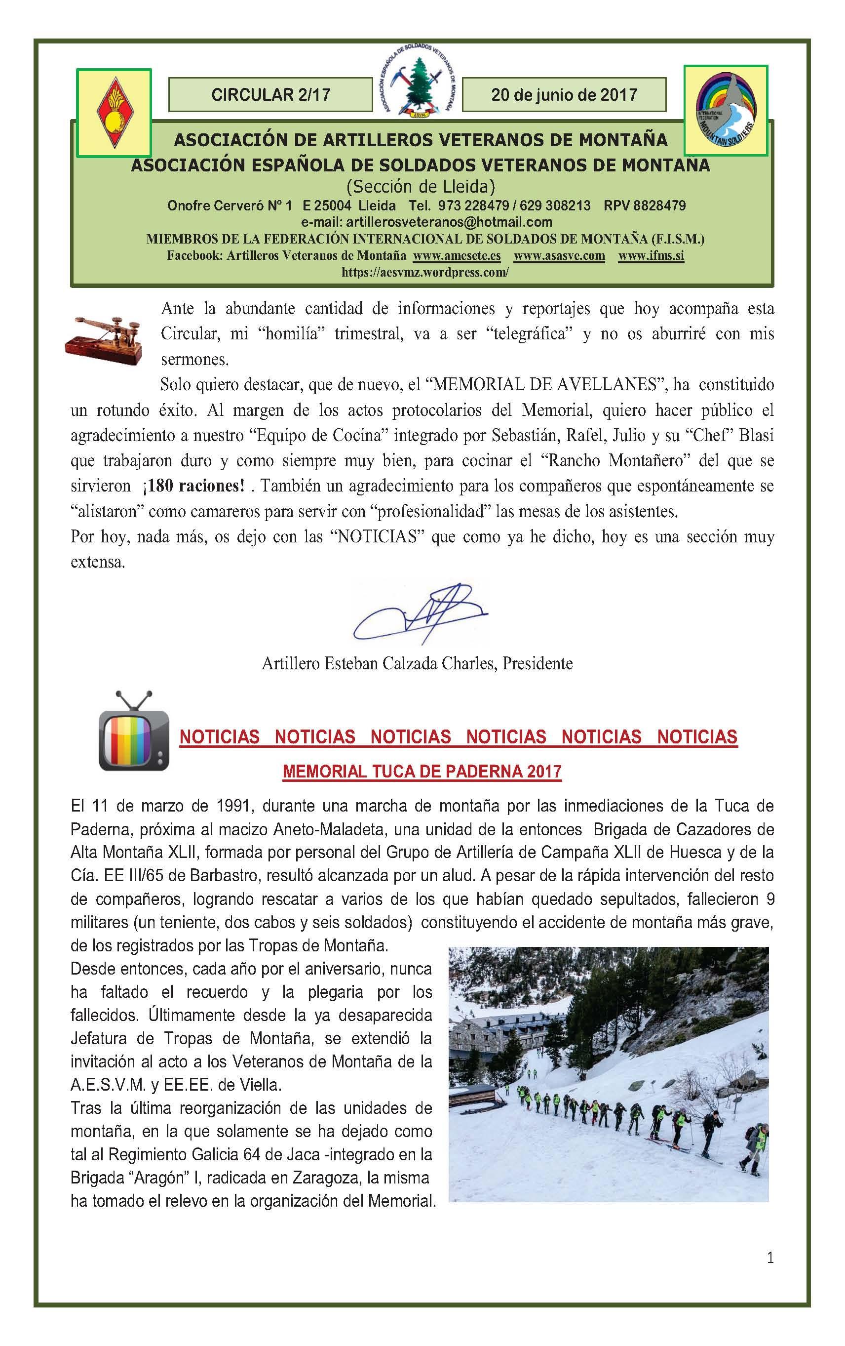 Revista AAVM. CIRCULAR 2-17r